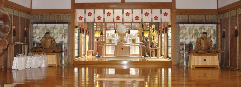 茨城の神社:静神社拝殿内部